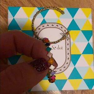 Stella & dot multicolor hoop earrings